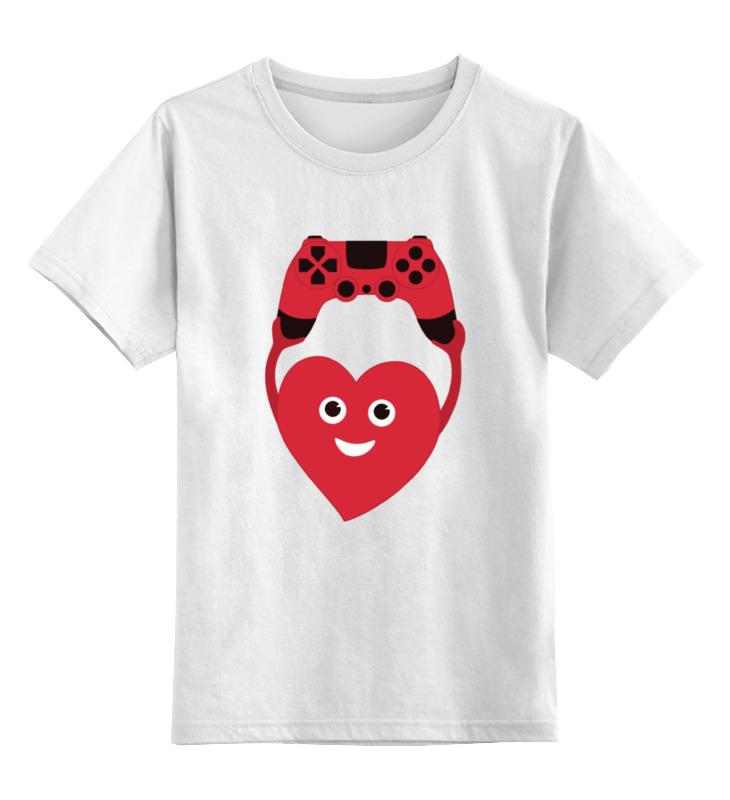 Детская футболка классическая унисекс Printio Джойстик и сердце цена 2017