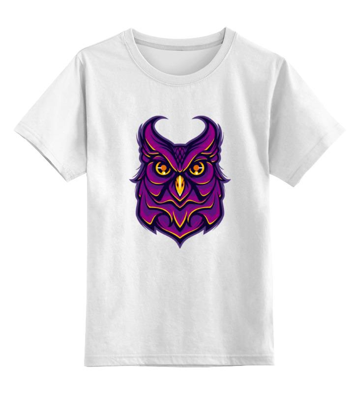 Детская футболка классическая унисекс Printio Ночная сова (owl) цена и фото