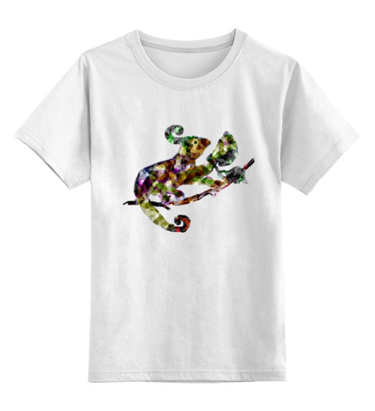 Детская футболка классическая унисекс Printio Хамелеон цветной цена