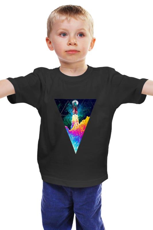 Детская футболка классическая унисекс Printio Take off