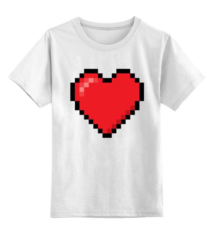 Printio Пиксельное сердце (8-бит) детская футболка классическая унисекс printio пицца 8 бит