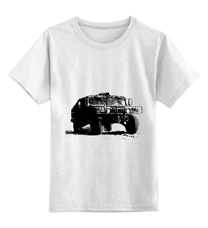 Детская футболка классическая унисекс Printio Hummer