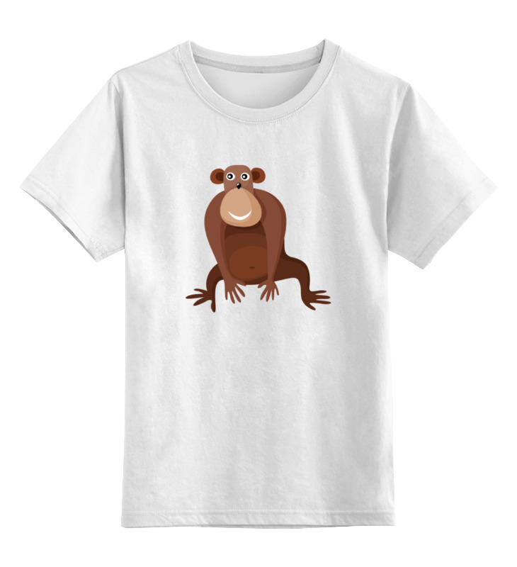 Детская футболка классическая унисекс Printio Обезьяна