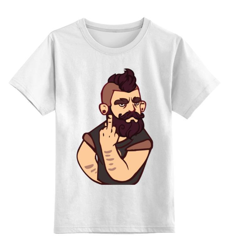 Детская футболка классическая унисекс Printio Bearded / бородач