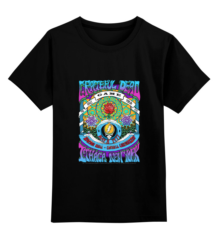 Детская футболка классическая унисекс Printio Grateful dead пуховик zarina zarina za004ewxrm20