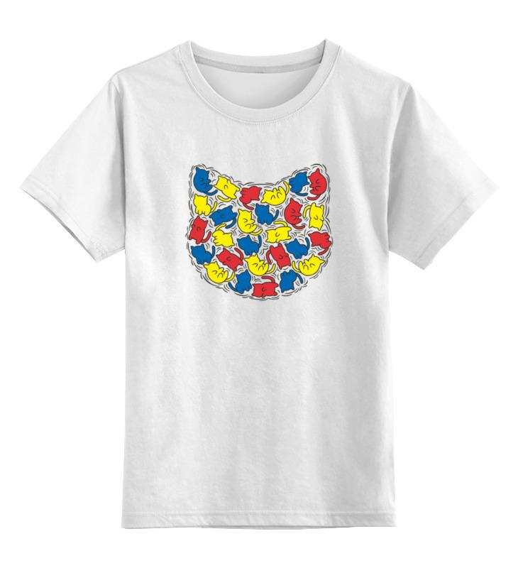 Детская футболка классическая унисекс Printio Коти��и детская футболка классическая унисекс printio карандаш и самоделкин