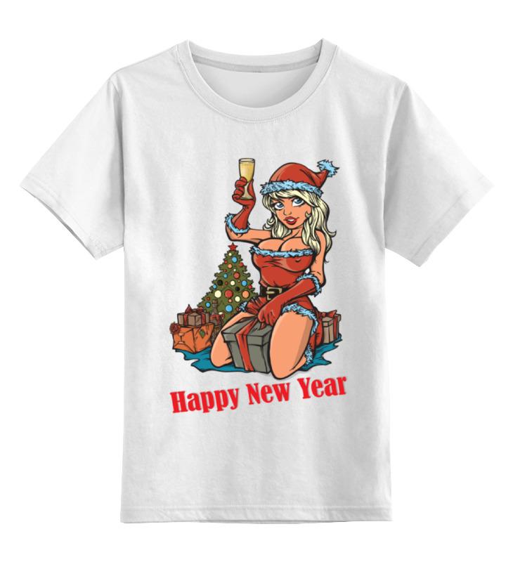 Детская футболка классическая унисекс Printio Снегурочка поздравляет с новым годом! детская футболка классическая унисекс printio дед мороз и снегурочка с новым годом
