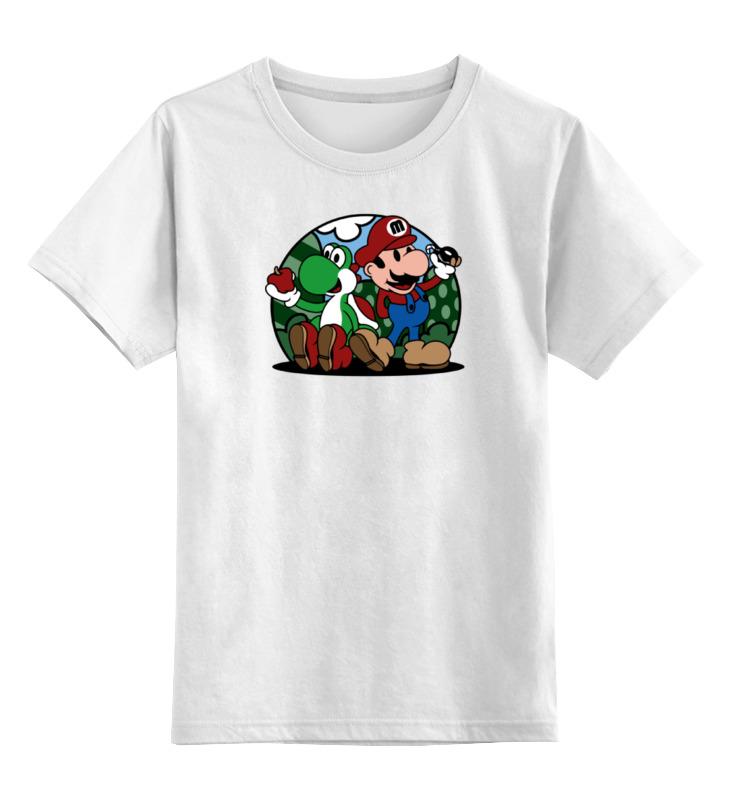 Детская футболка классическая унисекс Printio Марио и йоши