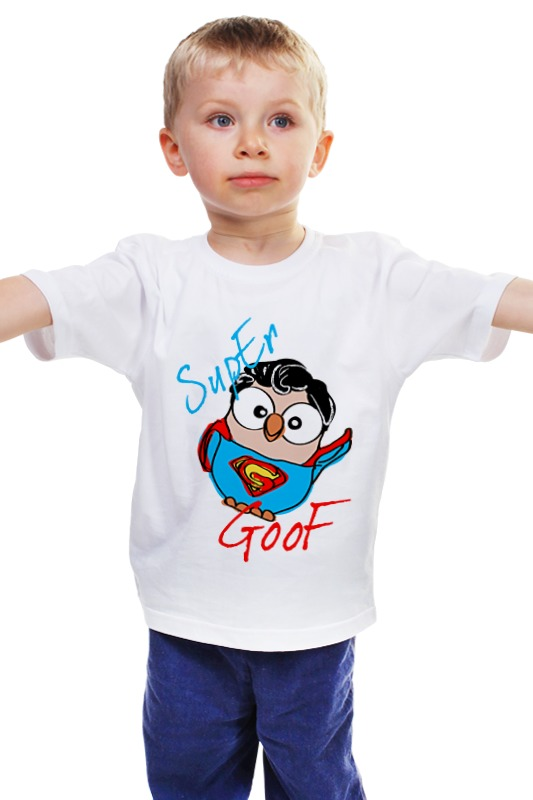 Детская футболка классическая унисекс Printio Сова супермен суперсова goofi футболка рингер printio сова супермен суперсова goofi