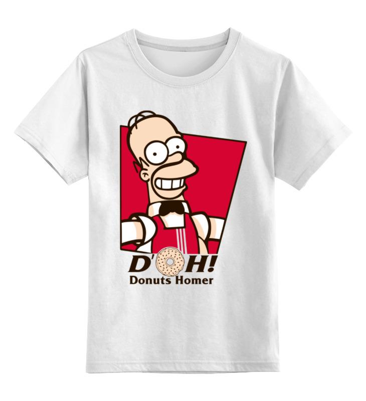 Детская футболка классическая унисекс Printio Гомер симпсон