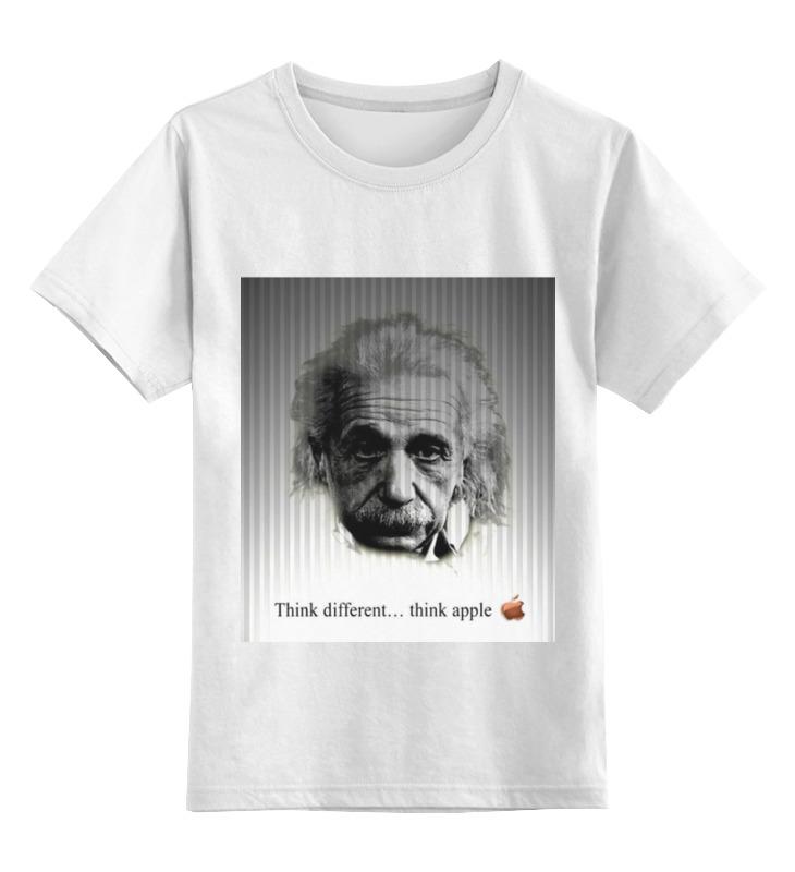 Детская футболка классическая унисекс Printio Эйнштейн футболка рингер printio эйнштейн