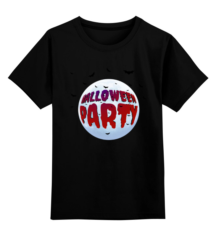 Детская футболка классическая унисекс Printio Хэллоуин вечеринка