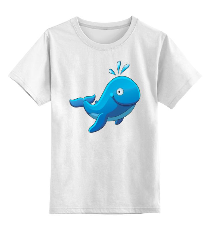 Детская футболка классическая унисекс Printio Большой морской кит с фонтаном футболка классическая printio кит ричардс