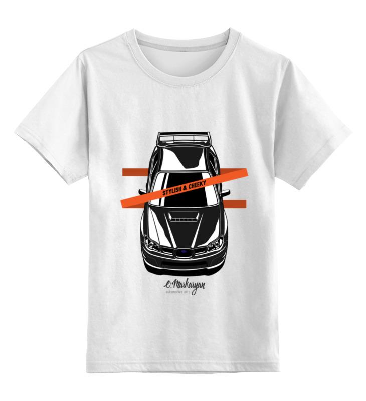 Детская футболка классическая унисекс Printio Impreza vertical 85mm 33 meters 0 08mm single side high