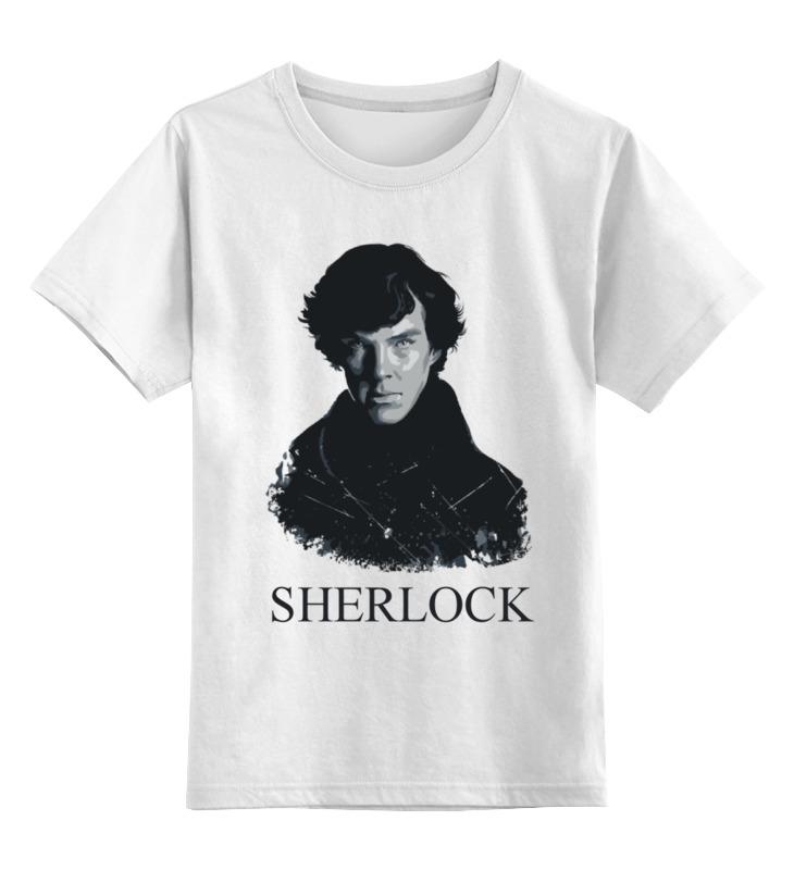 Детская футболка классическая унисекс Printio Шерлок холмс (sherlock) тетрадь на скрепке printio шерлок холмс sherlock