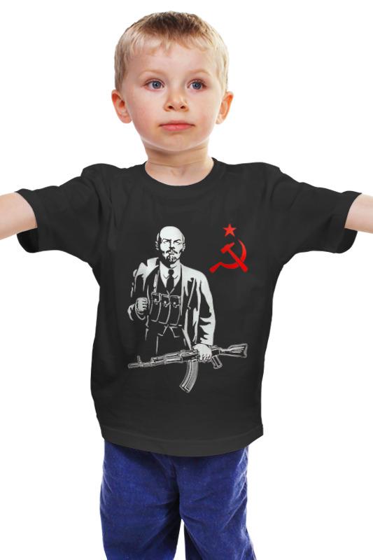 Детская футболка классическая унисекс Printio Ленин калашников ак47 купить автомат калашников боевой цена