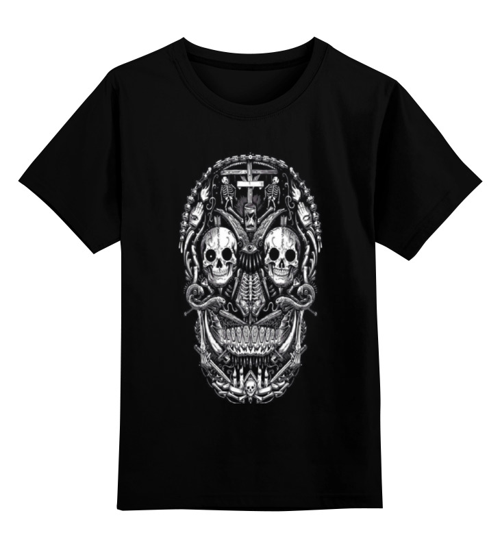 Детская футболка классическая унисекс Printio Skull art детская футболка классическая унисекс printio мотобайк