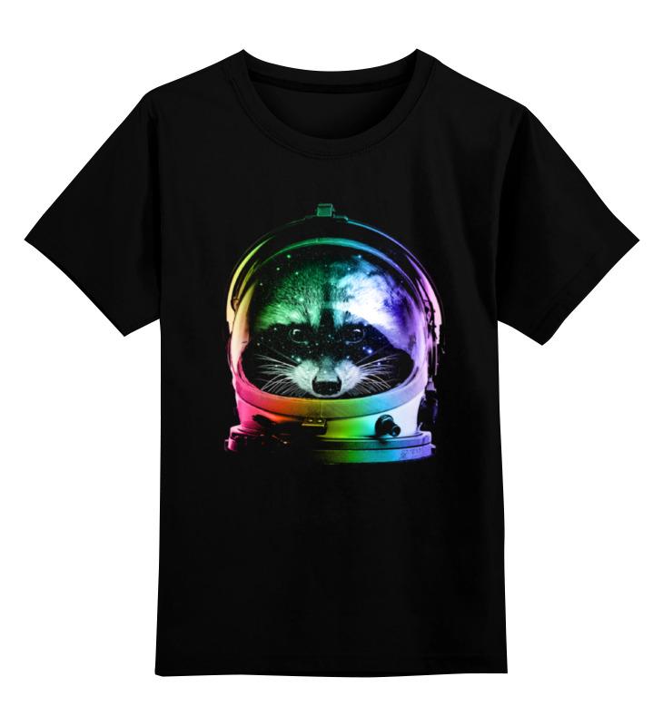 Детская футболка классическая унисекс Printio Енот космонавт шапка классическая унисекс printio енот стилизация