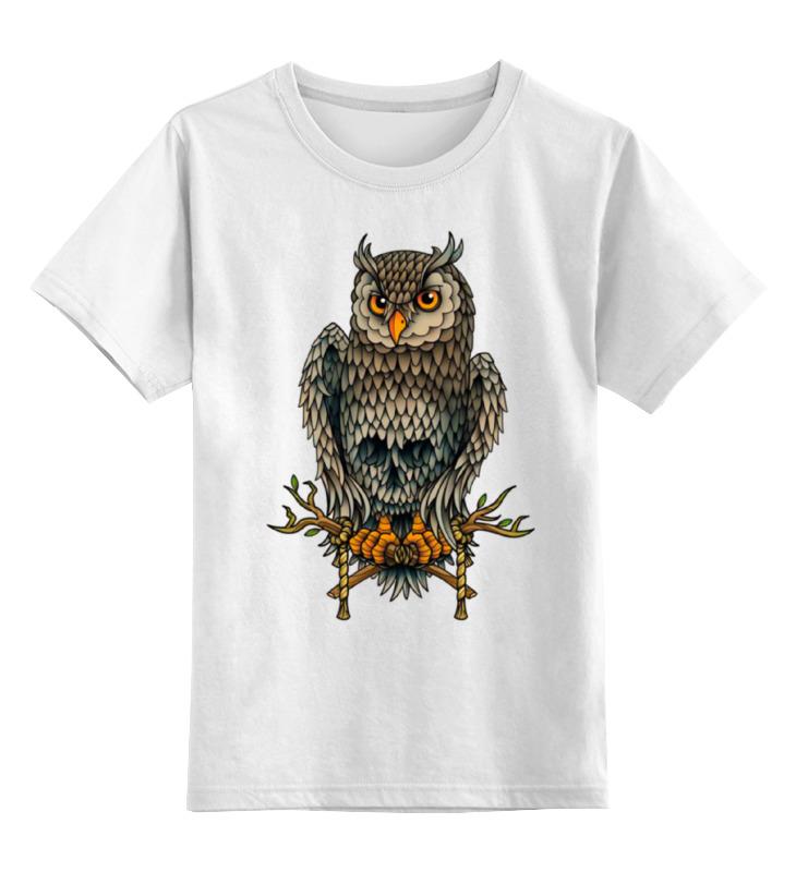Детская футболка классическая унисекс Printio Сова-череп арт детская футболка классическая унисекс printio арт сова