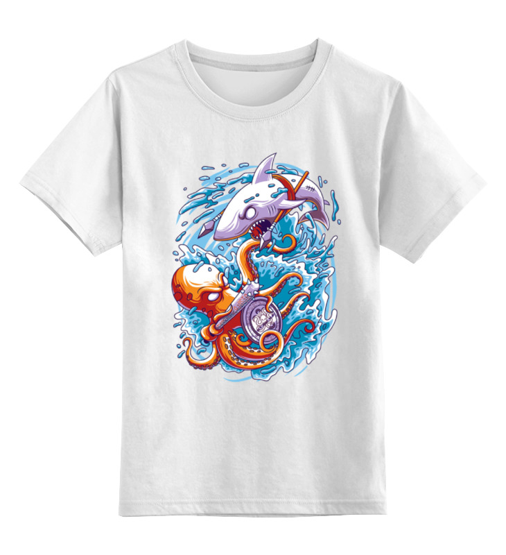 Детская футболка классическая унисекс Printio Морская борьба блузка детская barkito морская принцесса голубая