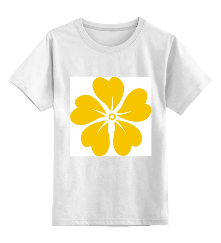 Детская футболка классическая унисекс Printio Желтая лилия футболка желтая мужская