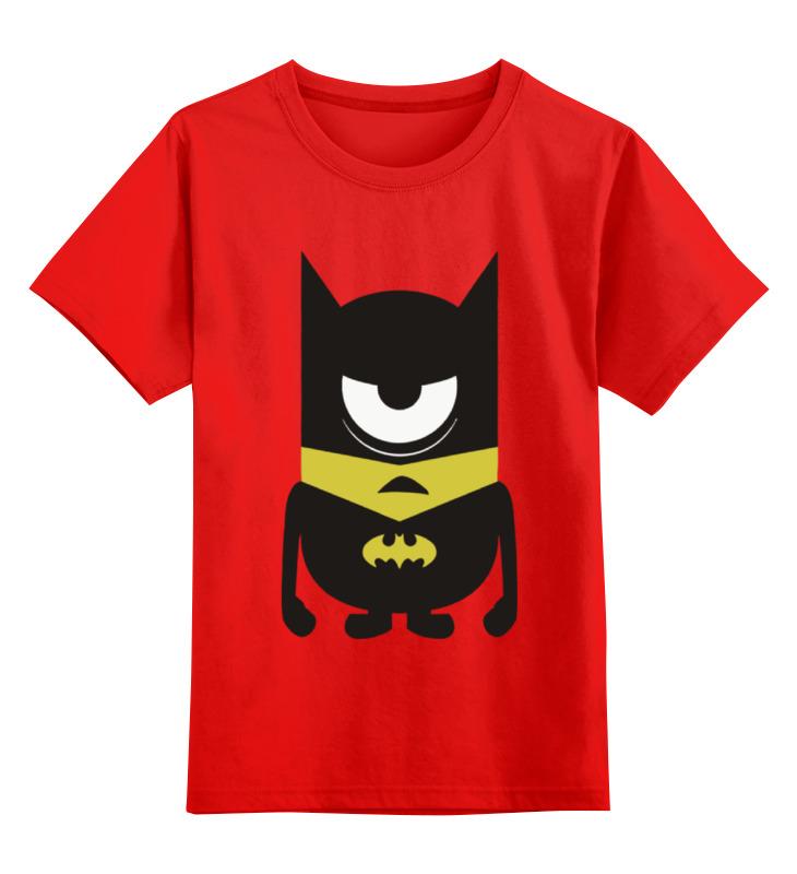 Детская футболка классическая унисекс Printio Minion batman футболка стрэйч printio minion batman