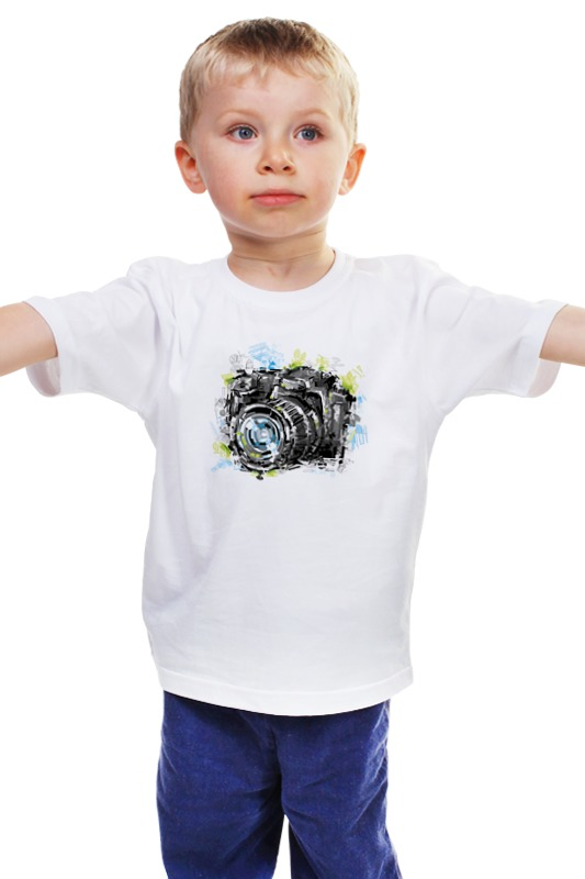 Детская футболка классическая унисекс Printio Фотоаппарат фотоаппарат