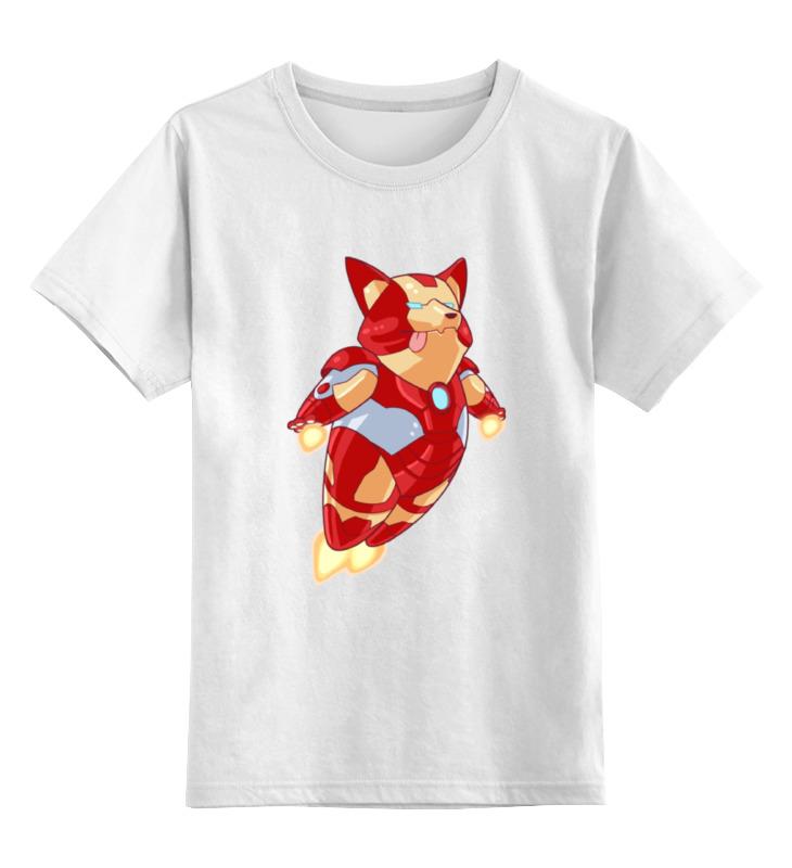 Детская футболка классическая унисекс Printio Пес (железный человек) цена и фото