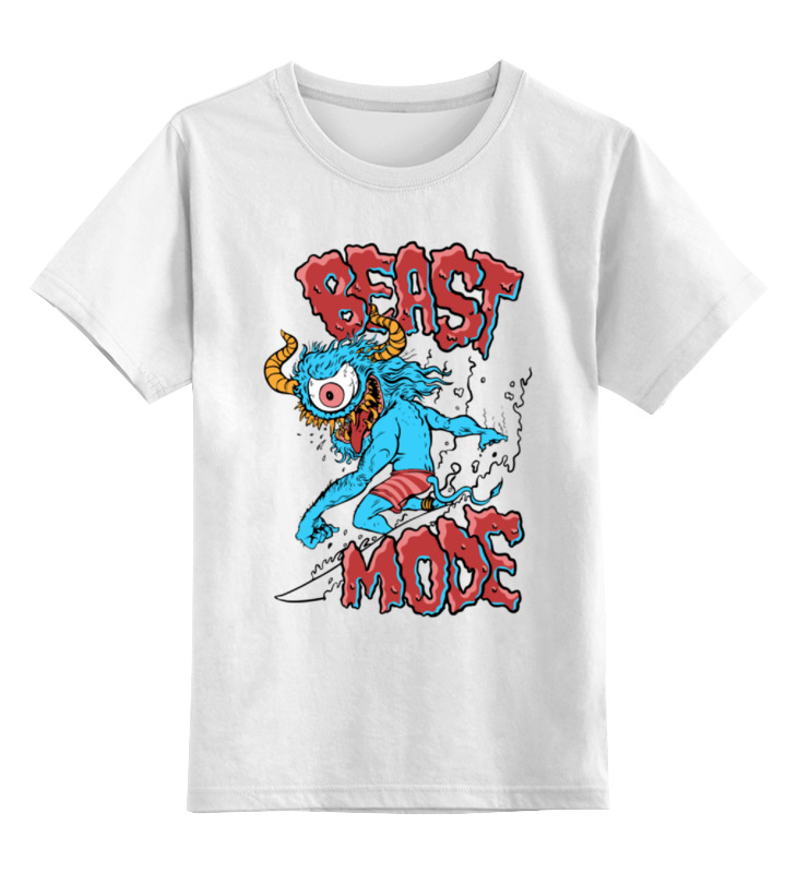Детская футболка классическая унисекс Printio Монстр серфер детская футболка классическая унисекс printio мачете