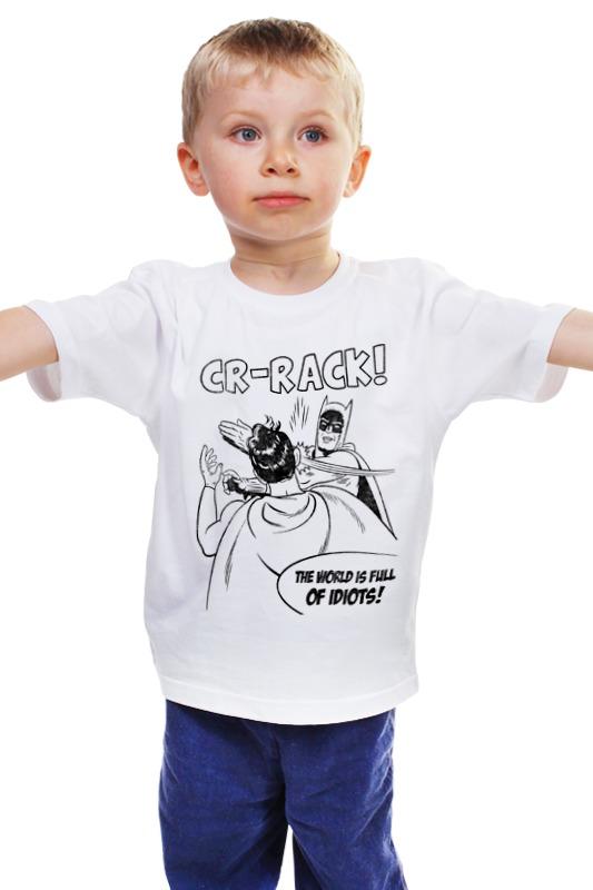 Детская футболка классическая унисекс Printio Бэтмен и робин. пощёчина детская футболка классическая унисекс printio бэтмен и робин