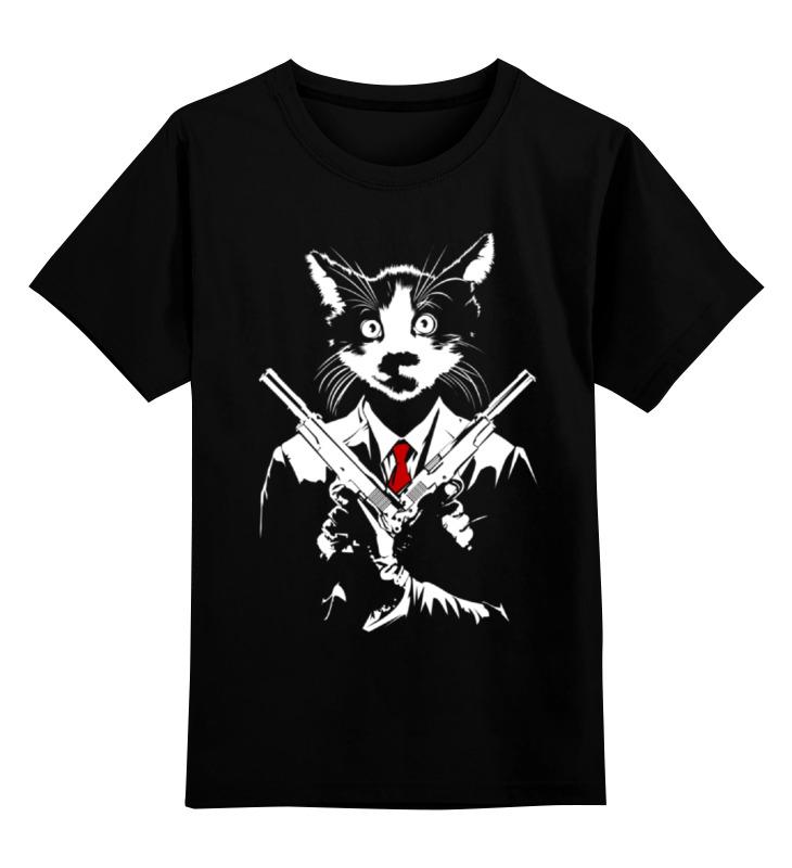 Детская футболка классическая унисекс Printio Кот киллер детская футболка классическая унисекс printio абстрактный кот