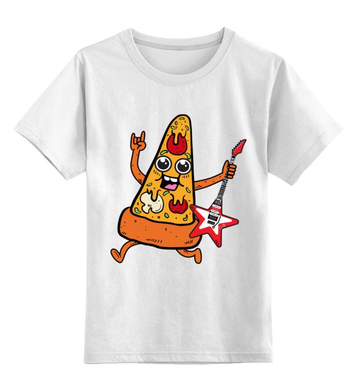 Детская футболка классическая унисекс Printio Пицца с гитарой магнит пицца с фруктами