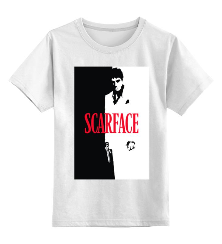 Детская футболка классическая унисекс Printio Лицо со шрамом (scarface) футболка классическая printio тони монтана лицо со шрамом