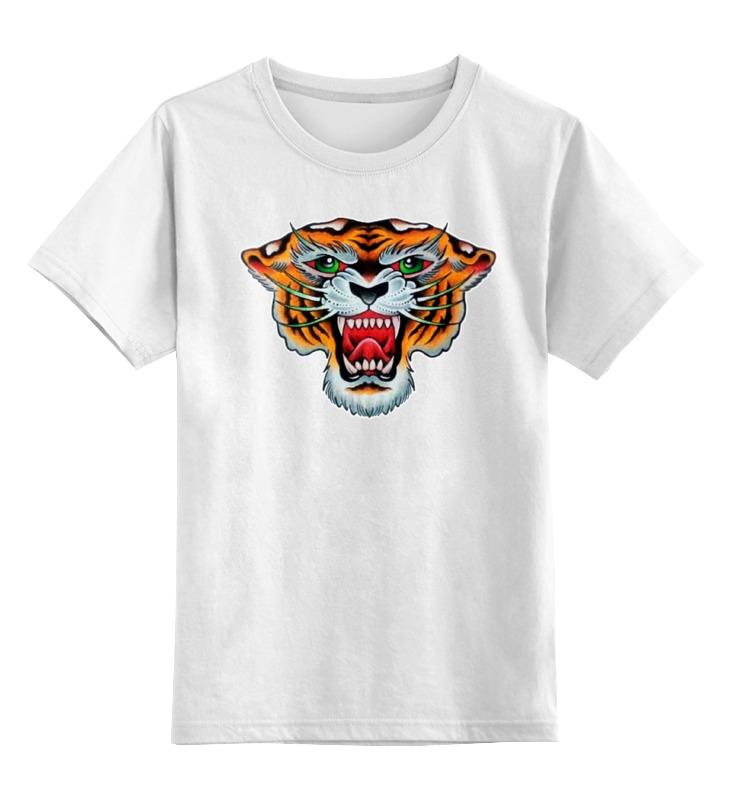 Детская футболка классическая унисекс Printio Tiger old school точечный светильник donolux dl18615 02ww sq white black