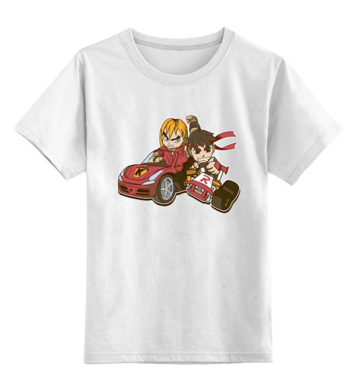 Детская футболка классическая унисекс Printio Уличный боец (картинг) корпоративный картинг