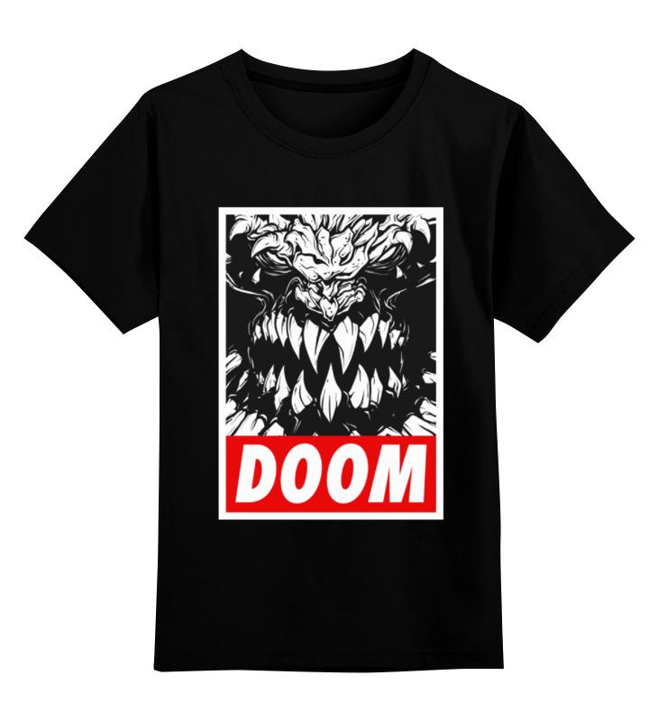Детская футболка классическая унисекс Printio Дум (doom) чехол для ноутбука 14 printio игра doom