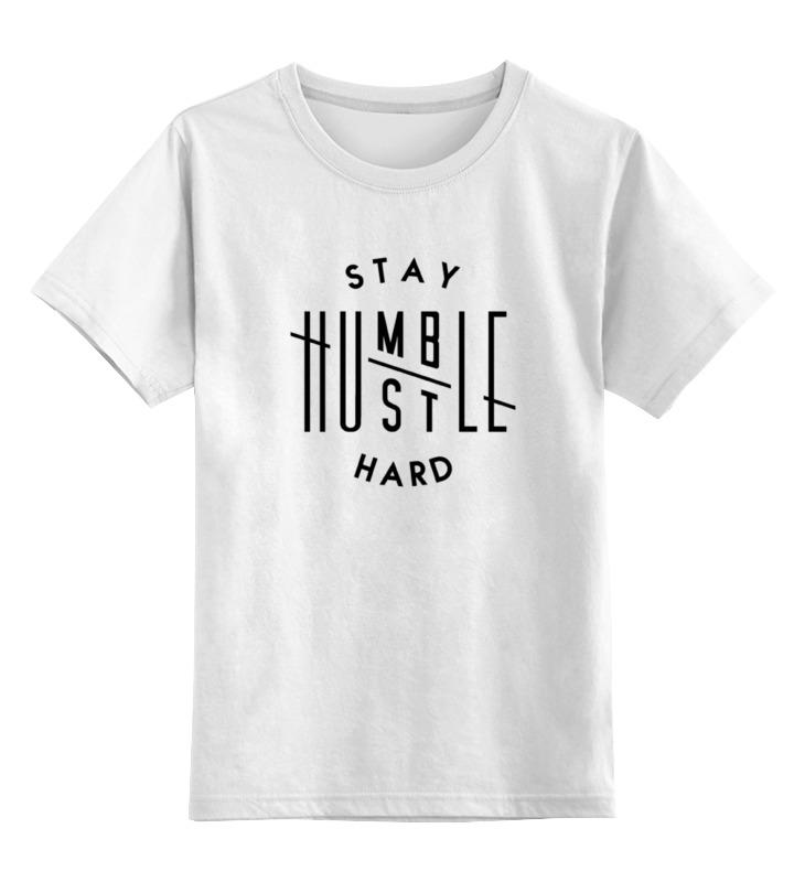 Детская футболка классическая унисекс Printio Hustle hard sbart upf50 rashguard 2 bodyboard 1006