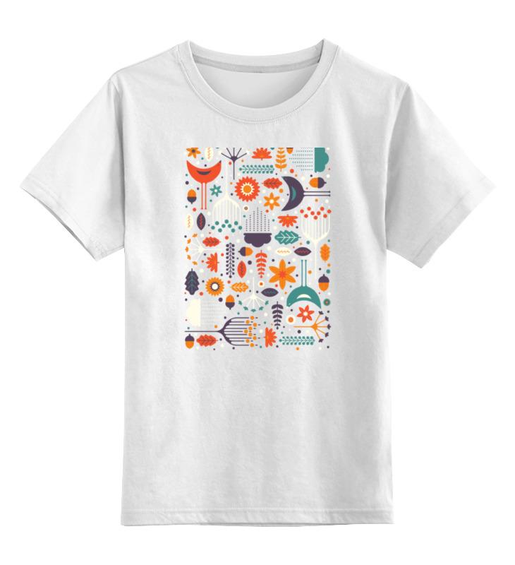 Детская футболка классическая унисекс Printio Флора и фауна