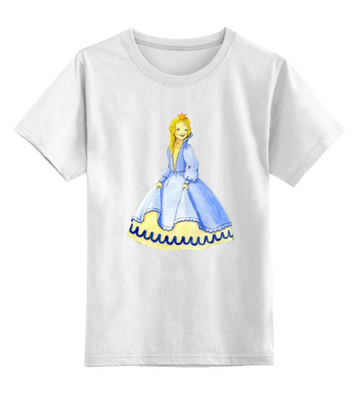 Детская футболка классическая унисекс Printio Счастливая принцесса