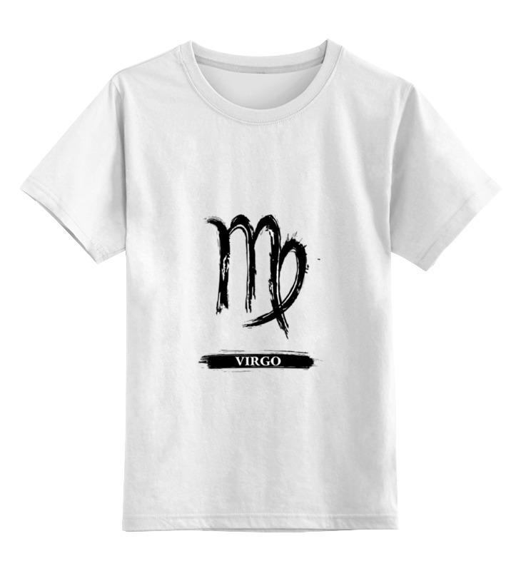 Детская футболка классическая унисекс Printio Знак зодиака дева футболка рингер printio знак зодиака дева