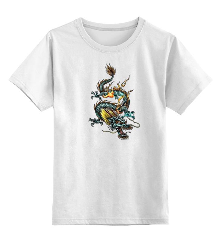 Детская футболка классическая унисекс Printio Китайский дракон силикон китайский в розницу