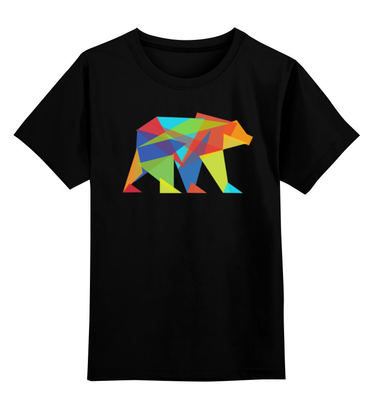 Детская футболка классическая унисекс Printio Геометрический медведь все цены
