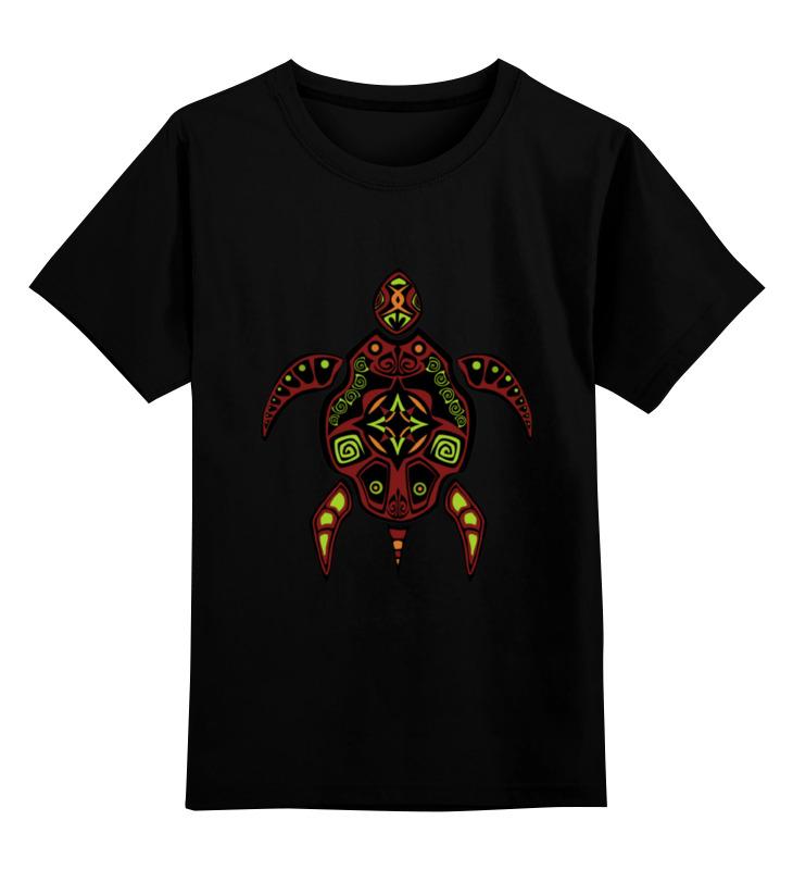 Детская футболка классическая унисекс Printio Черепаха