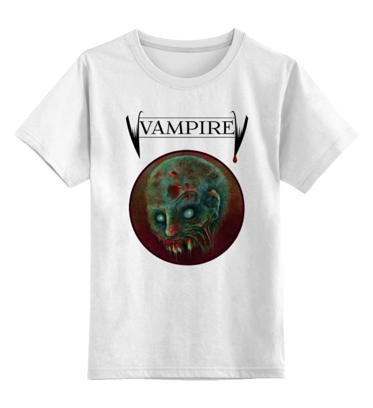 Детская футболка классическая унисекс Printio Вампир цена и фото