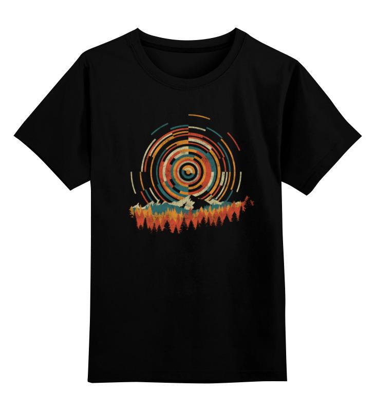 Детская футболка классическая унисекс Printio Геометрический восход все цены