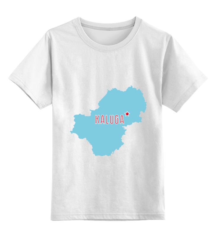 Детская футболка классическая унисекс Printio Калужская область. калуга цена 2017