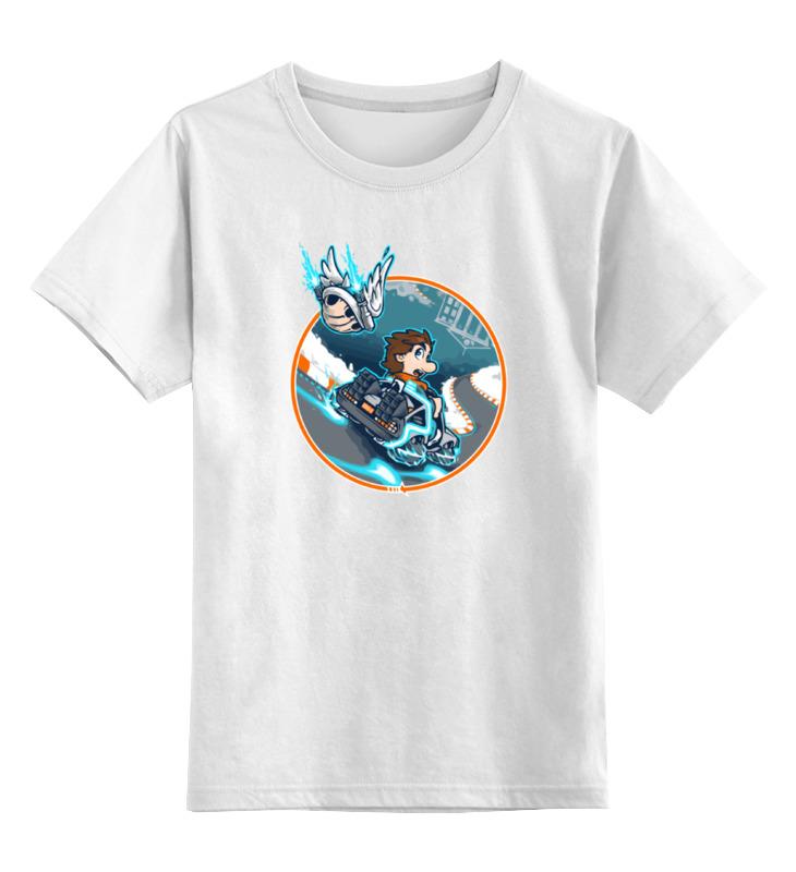 Фото - Детская футболка классическая унисекс Printio Назад в будущее (марио карт) contrast lace keyhole back blouse