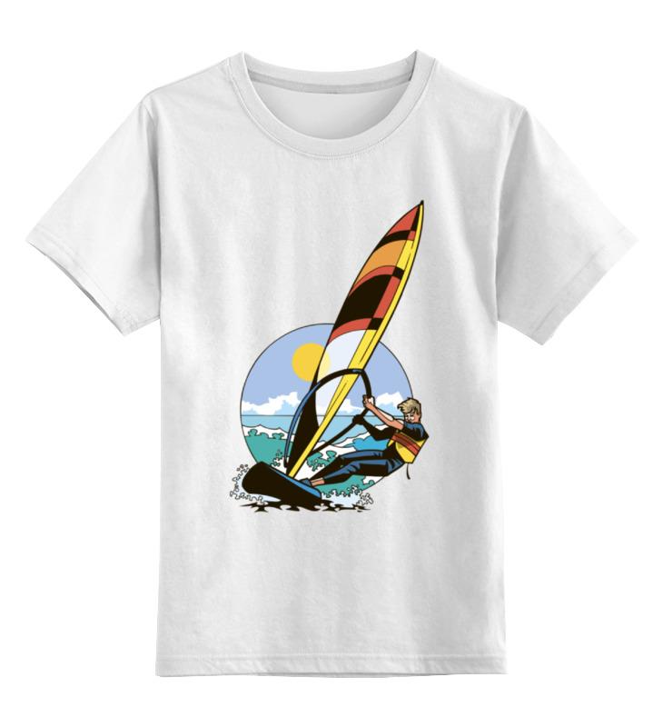 Детская футболка классическая унисекс Printio Спортсмен..отдых...пляж..море отдых в доме отдыха покровское
