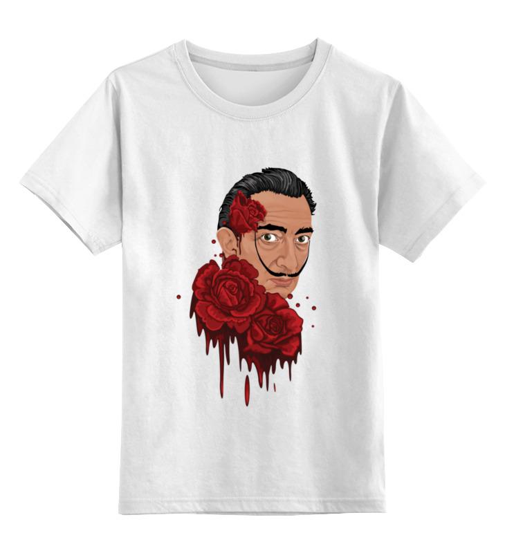 Детская футболка классическая унисекс Printio Сальвадор дали и розы. детская футболка классическая унисекс printio сальвадор дали
