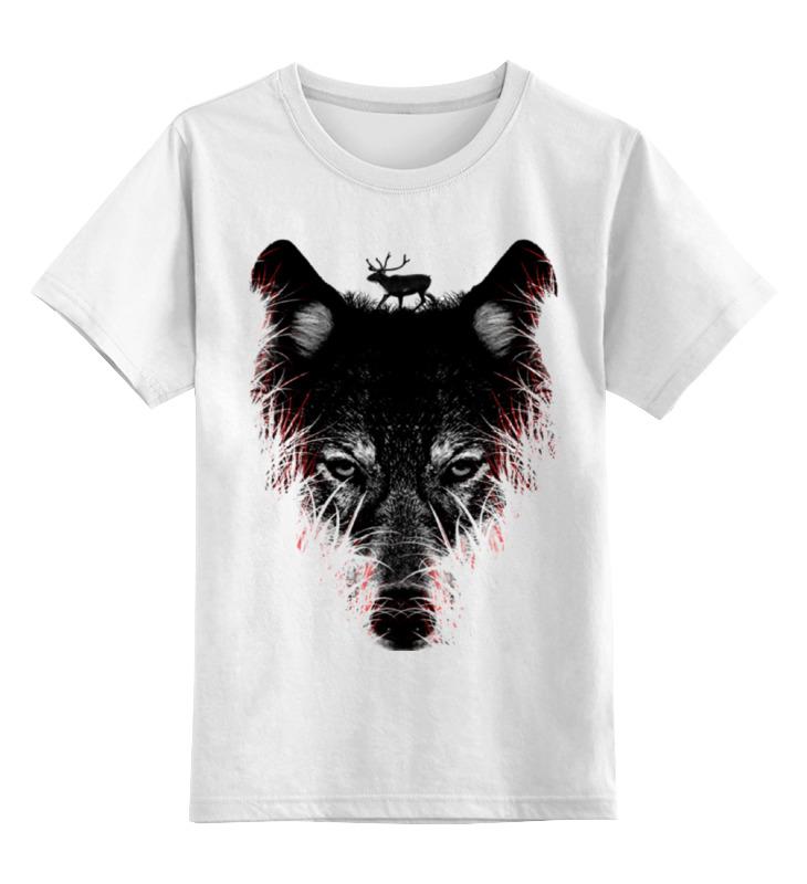Детская футболка классическая унисекс Printio Волк на охоте детская футболка классическая унисекс printio воющий волк